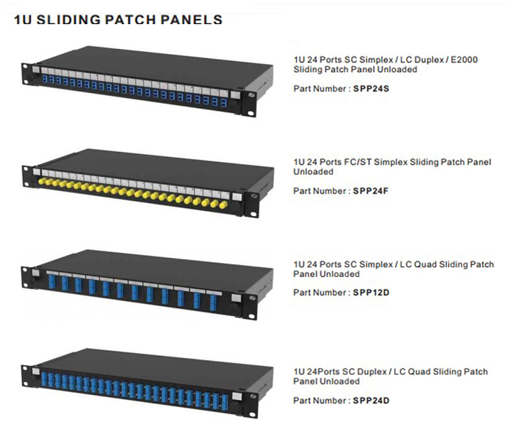 1U Sliding Patch Panels